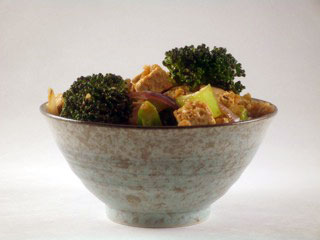 ginger shoyu tofu broccoli