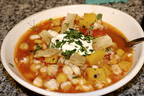 Red Pozole (Vegetarian) Recipe Image